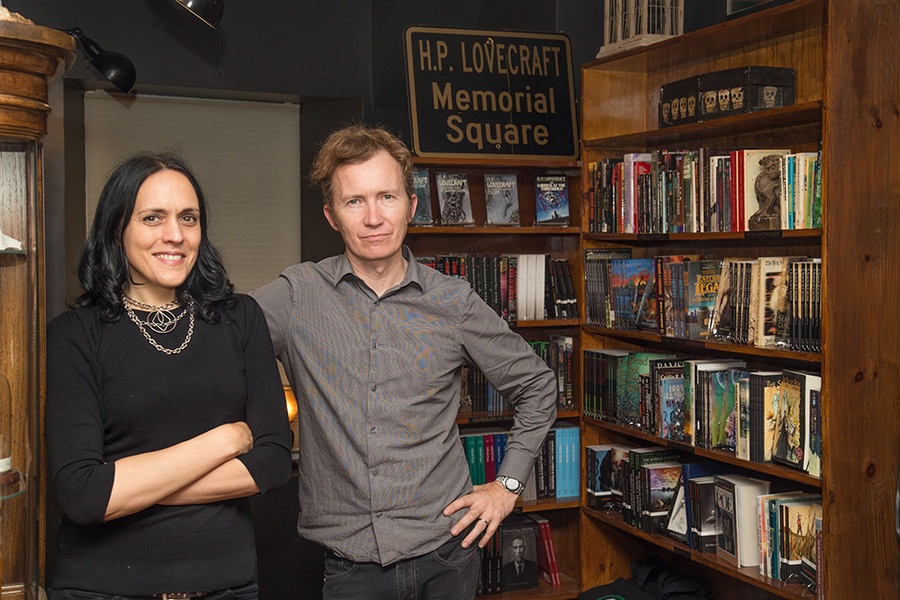 Carmen Marusich and Niels Hobbs of the Lovecraft Arts and Sciences Council