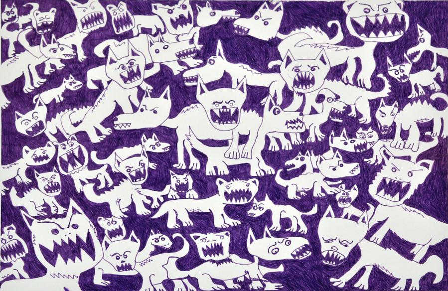Handmade abstract and cartoony patterns let Hana Kearney express her creativity