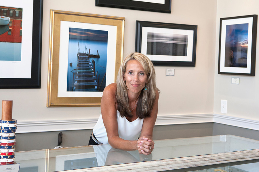 "The Beach House gallery founder, Laura ""Lo"" Hopkins"