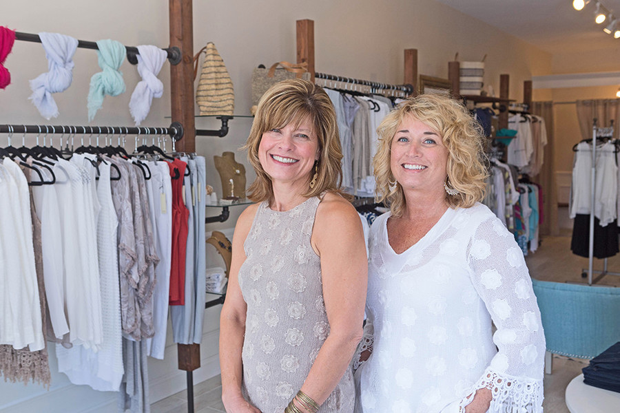 Owners Candace Brown and Lauren Wells of Therapy Boutique