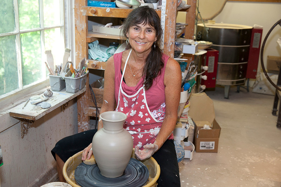 Nancy Lyon creates and teaches classes at the South County Art Association.