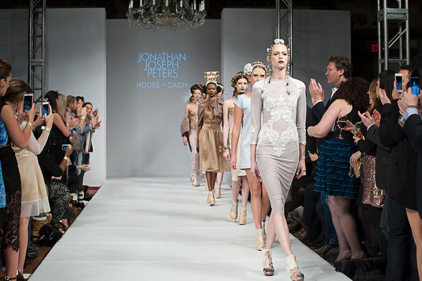 Last season's Jonathan Joseph Peters runway show – featuring House of Cach.