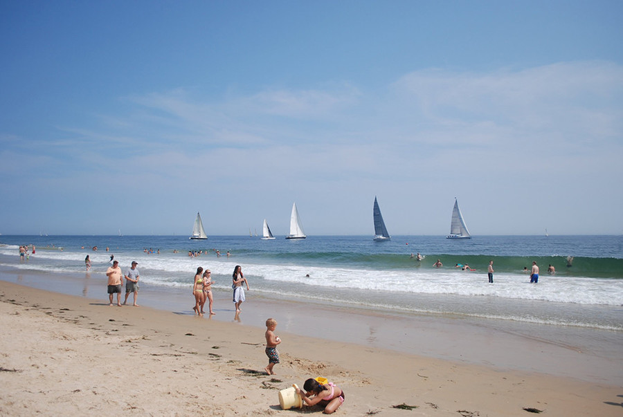 Take a stroll along Misquamicut Beach in Westerly without the crowds