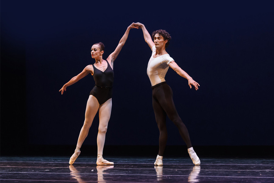 Company dancers Villa Putrius and Mindaugas Bauzys of Providence's Festival Ballet