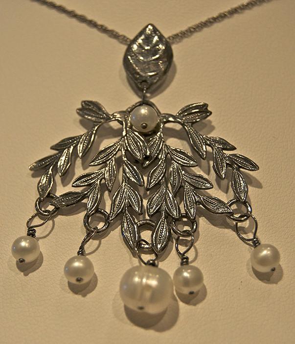 Handmade necklace by Amie Plante of Cranston $168