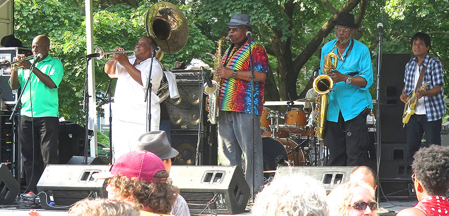 The Dirty Dozen Brass Band headlined this year's Summit Music Festival