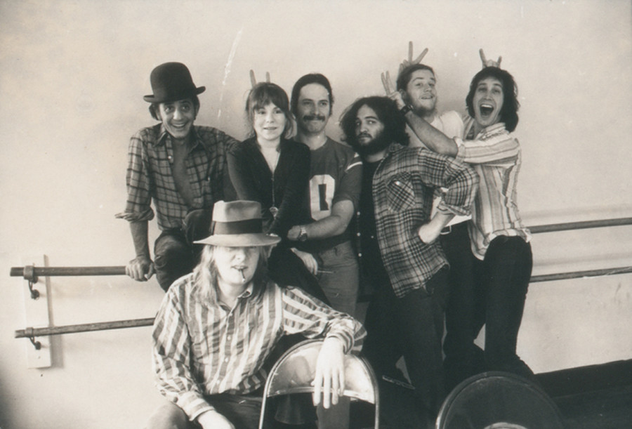 Garry Goodrow, Alice Peyton, Chris Guest, John Belushi, Peter Elbling, Chevy Chase and Tony Hendra in DRUNK STONED BRILLIANT DEAD: THE STORY OF THE NATIONAL LAMPOON, a Magnolia Pictures release. Playing thsi weekend at Jane Pickens Theater
