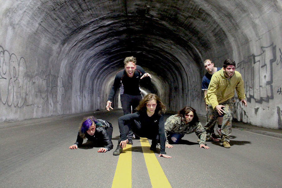 Running a 5k through the RIPTA tunnel in Providence while zombies chase us? Yes please.