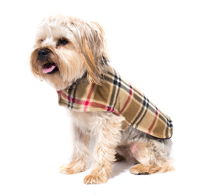 Fleece Dog Coat – Made in Hope Valley, RI by Creative Works; various patterns starting at $14.99 at Benny & Jack    Your source for all things four-legged and furry! Food and treats, toys, collars and leashes, accessories for pets, humans and home. Shop in-store and online.    Benny and Jack  237 Robinson Street, Wakefield  401-360-2258 bennyandjack.com