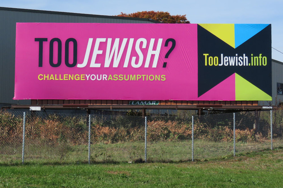 The provocative billboard on 95 North challenges public perceptions of what it means to be Jewish