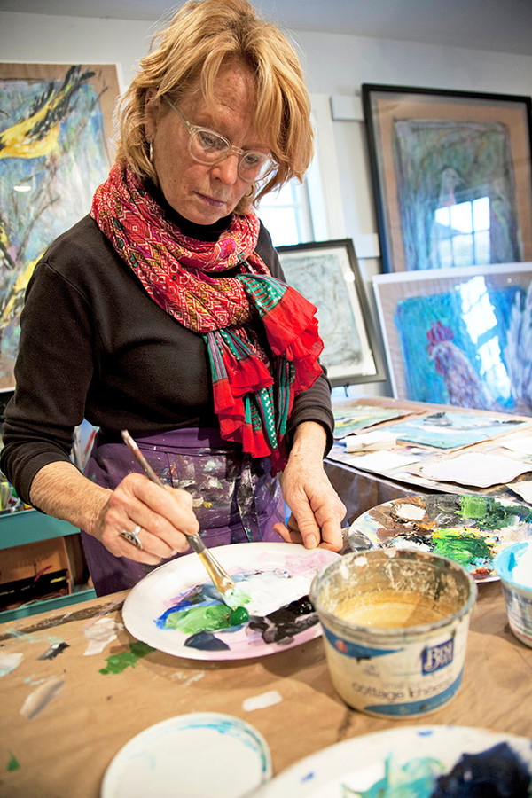 Brenda Wrigley Scott cites the Tiverton arts community and Rhode Island itself as a supportive force that fosters the evolution of her work