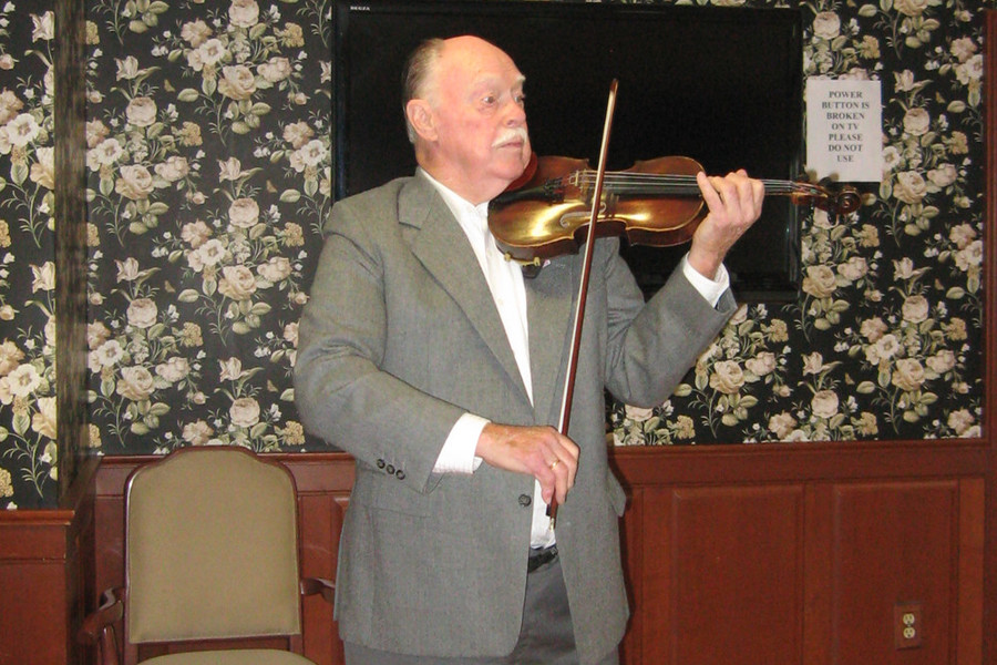 Wakefield's Paul Pelletier, 81 has been playing the violin for 70 years and loving every minute of it