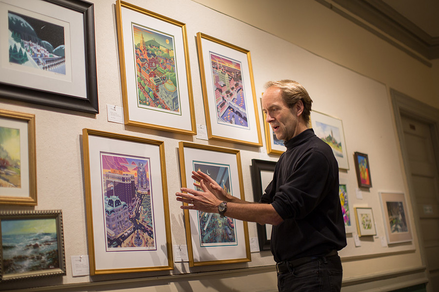 Artist Peter Thornton looks to Providence itself for inspiration in his illustrations