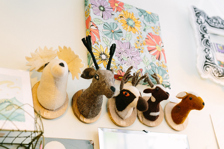 Plush animals wall art $30