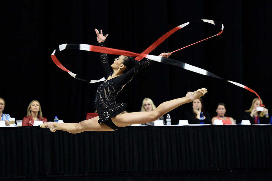 2015 Rhythmic Ball champion Serena Lu will be among the athletes competing in the USA Gymnastic Championships at the Dunk from June 8-13