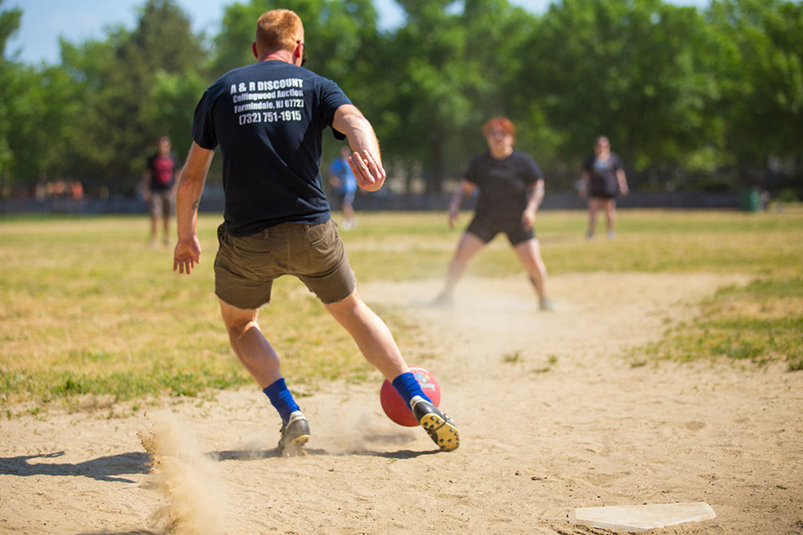 Saturdays kick balls all summer long at Dexter Park
