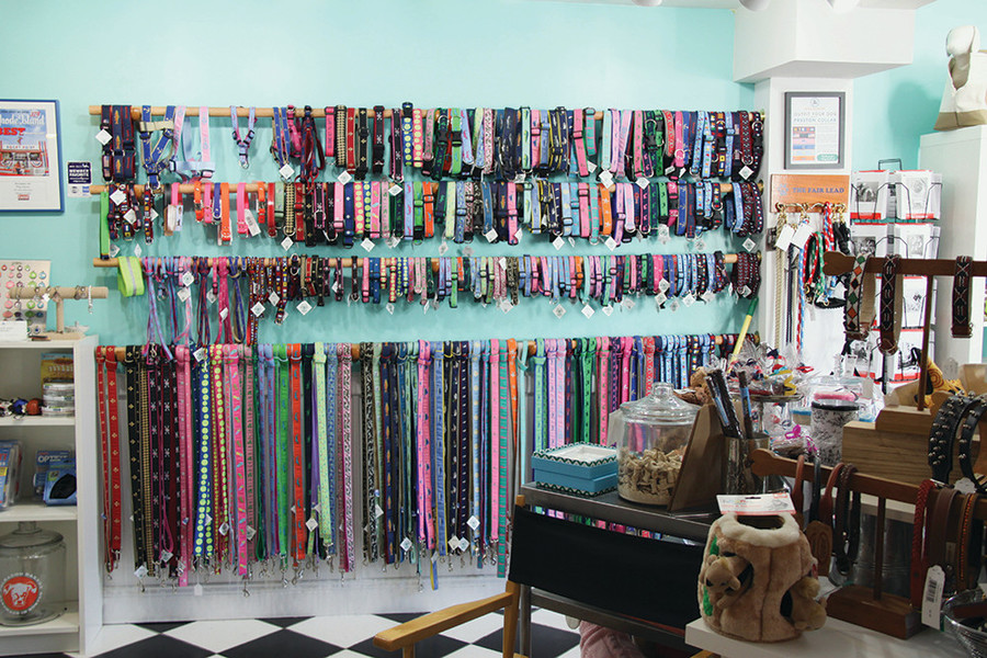 Collars and leashes, $12-$32
