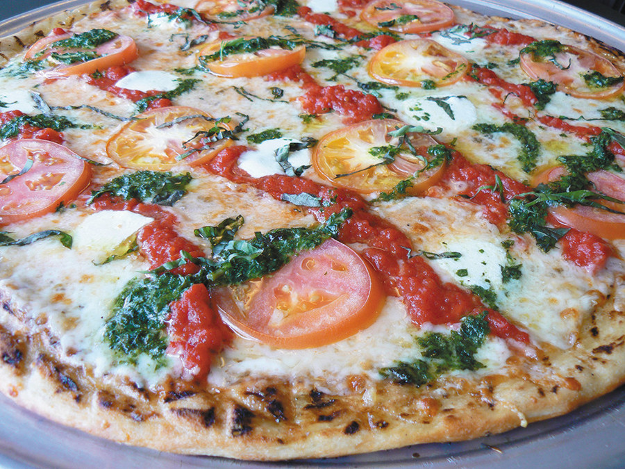 Wood Grilled Margherita Pizza