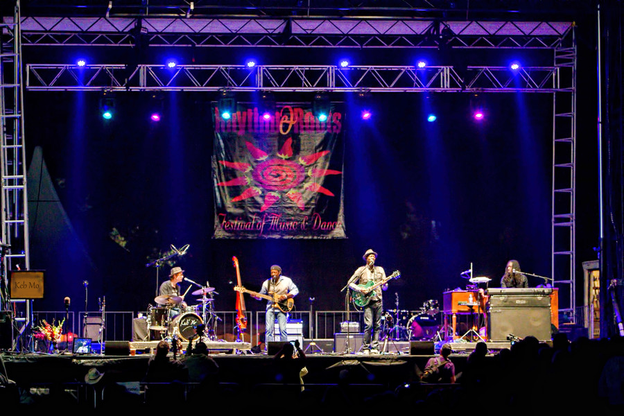 Keb Mo at the   2015 Rhythm and Roots Festival