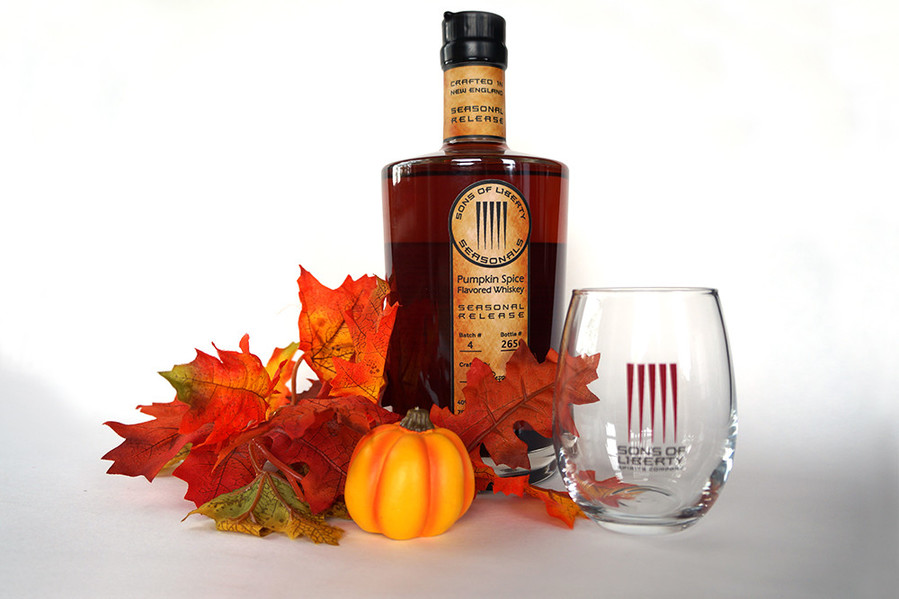 Sons of Liberty's Pumpkin Spice Whiskey is a slice of pie on the rocks.