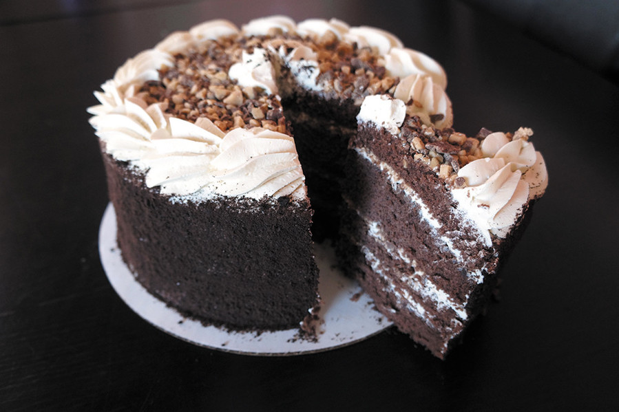 The Toffee Candy Crunch Cake from Gregg's contained coffee flavored whipped cream and Heath bar pieces that were sandwiched between four layers of toffee cake. The whole cake was covered in the whipped cream and the sides were coated in chocolate crumbles. Needless to say, everyone wanted seconds. Locations in North Kingstown and Warwick. GreggsUSA.com