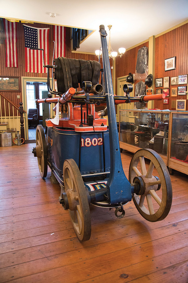 The Hero, Warren's first fire engine, is the centerpiece of the Warren Firemen's Museum