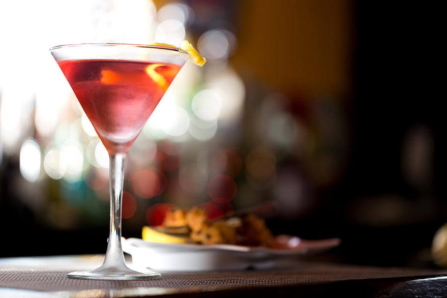 The ginger cosmo at the Clean Plate