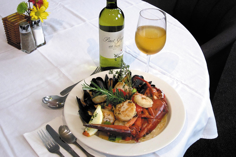 Carefully chosen bottles of wine are 50% off during the Mariner Grille's Wine Down Wednesdays