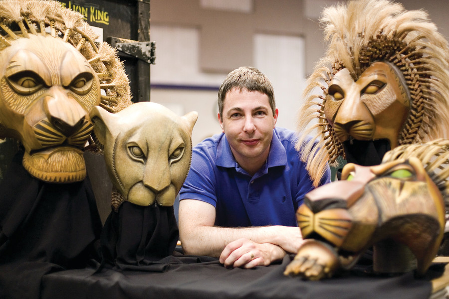 Puppet master Michael Reilly wrangles The Lion King's menagerie this month at PPAC