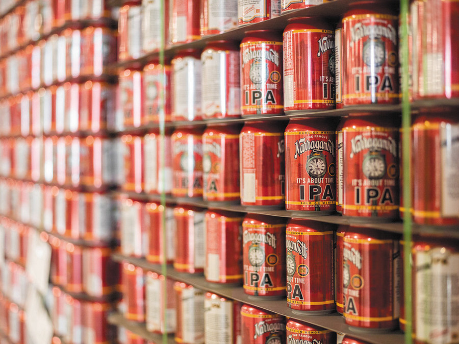 Narragansett Beer's It's About Time IPA will be the first beer the company has produced in-state in almost 40 years
