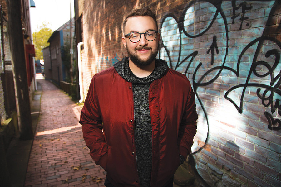 "Andrew Williams is ""your best friend that's trash-talking for you"" on stage at the Comedy Connection on April 7"