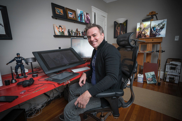 Clark Huggins traded the life of a struggling actor in NYC for the life of a successful commercial illustrator in Providence