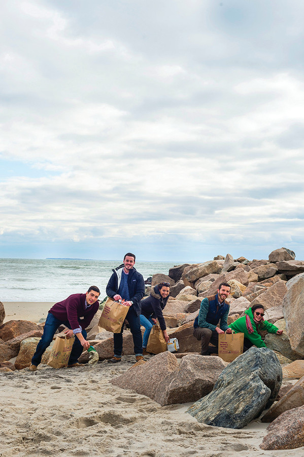 The URI students of Ocean Notion work to make RI's beaches sparkling clean