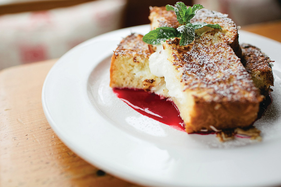 Stuffed French Toast at The Beehive Cafe