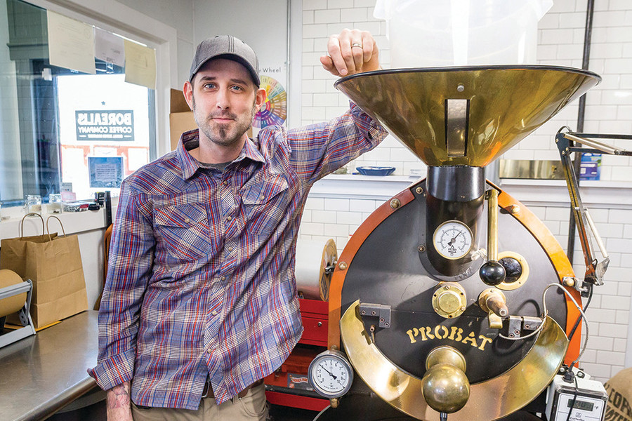 Owner Brian Dwiggins tells the whole story of a cup of coffee - from bean to brew - at Borealis Coffee Roasts