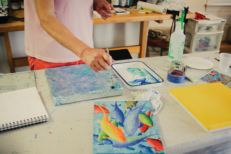 South Coast Artists runs open studio tours for the community to see how - and where - their art gets made