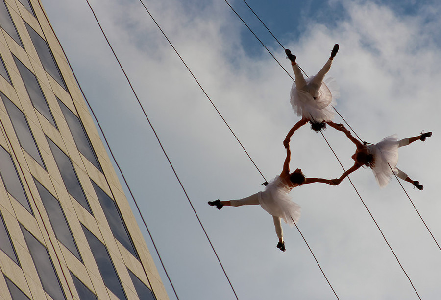Aerial dance troupe Bandaloop will turn the Providence skyline into a vertical stage