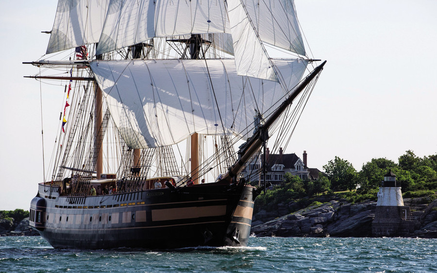 The tall ship Oliver Hazard Perry, the largest sailing school vessel in the States, takes student crews from Bermuda to the Arctic