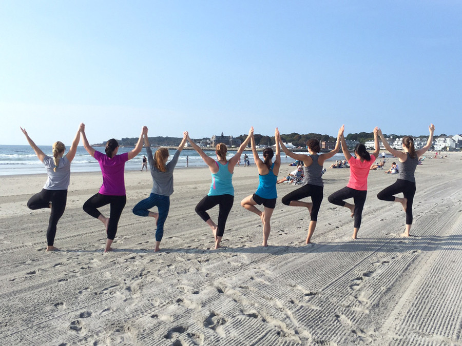 Yoga on Narragansett Town Beach with Natural Fitness Yoga