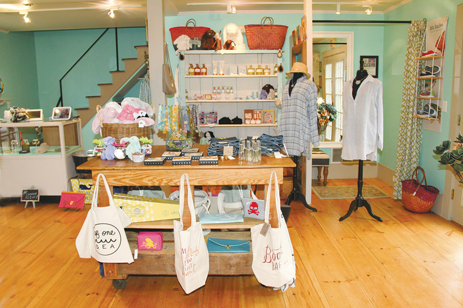 Beachy finds at Salt Boutique in Tiverton