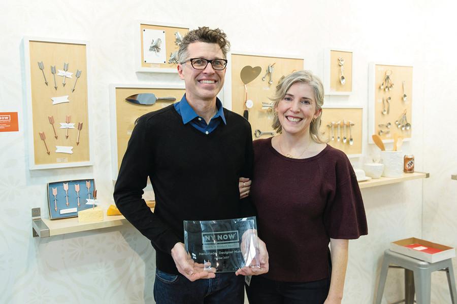 Artists Sandra Bonazoli and Jim Dowd of Beehive Handmade