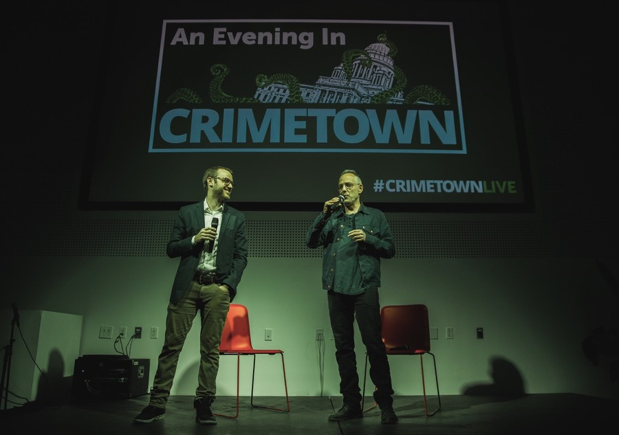 Crimetown hosts Zac Stuart-Pontier (left) and Marc Smerling