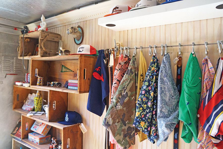 Post and Grove is neatly styled, with a dressing room and a mix of vintage and new pieces.