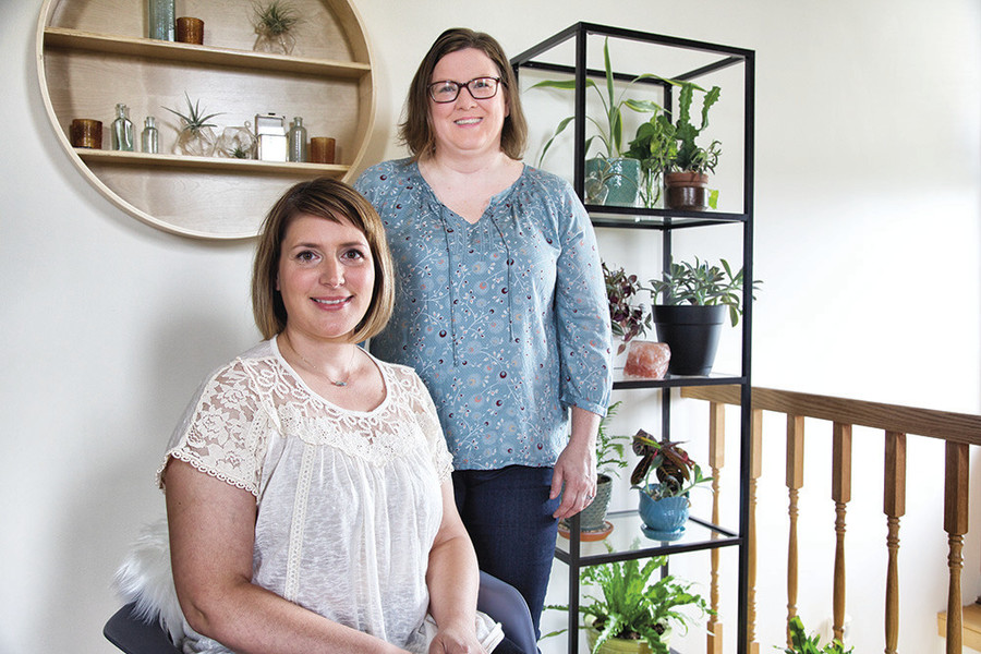 Jill Sarmento and Gina Browning of Curious Nature Apothecary