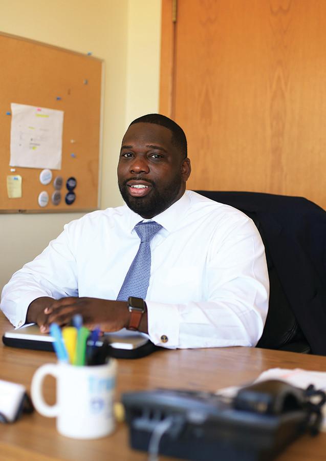 Kevin Olasanoye, executive director of the Rhode Island Democratic Party