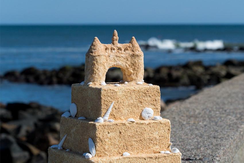 Custom Narragansett Towers Sandcastle Cake by Scrumptions in East Greenwich