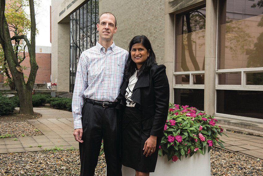 East Siders Jason Wright and Latha Sivaprasad