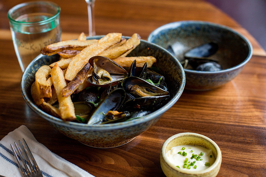 Moules Frites with Aioli
