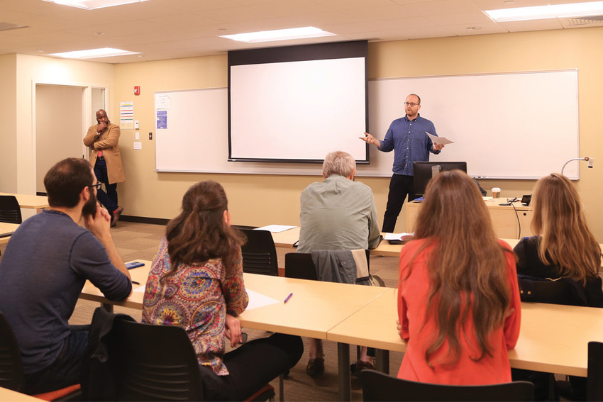 "Millennial RI's workshops – like this one with Phil Eil on how to write an op-ed – are designed to help millennials tackle the many requirements of ""adulting"""