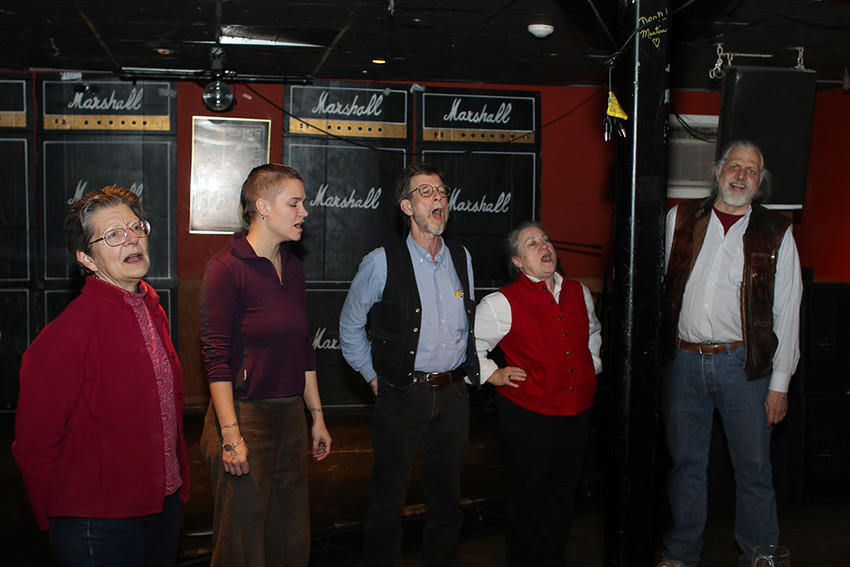 The Quahog Quire will sing at the Parlour on February 5